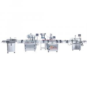 Dây chuyền chiết rót dịch lỏng 4 đầu PISTON tự động QM-DCCR01