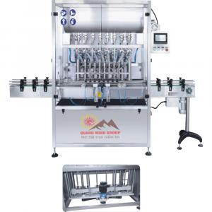 Máy chiết rót dịch sệt 8 đầu PISTON động cơ SERVO tự động QM-CRDD01