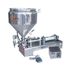 Máy chiết rót mỹ phẩm 1 vòi bán tự động kèm bồn gia nhiệt cao cấp QM-G1WGDB100