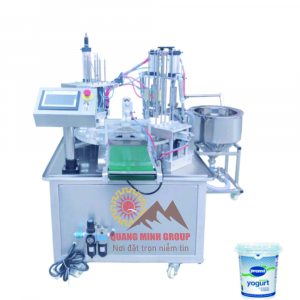 Máy chiết và dán hũ Yogurt QM-MCDH02