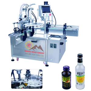 Máy chiết và siết nắp tự động (Nắp ROPP) QM-CRSN02