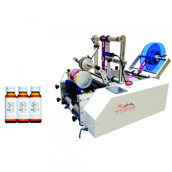 Máy dán nhãn chai tròn nhỏ bán tự động QM-T311