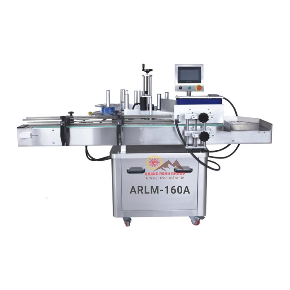 Máy dán nhãn chai tròn tự động 160A (Băng tải xoay) QM-ARLM-160A