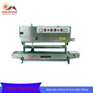 Máy hàn miệng túi liên tục kết hợp máy in date bao bì thẳng đứng FRM-980LW
