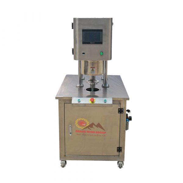 Máy viền mí lon kèm hút chân không và thổi khí Ni-Tơ bán tự động QM-ZKCD-I