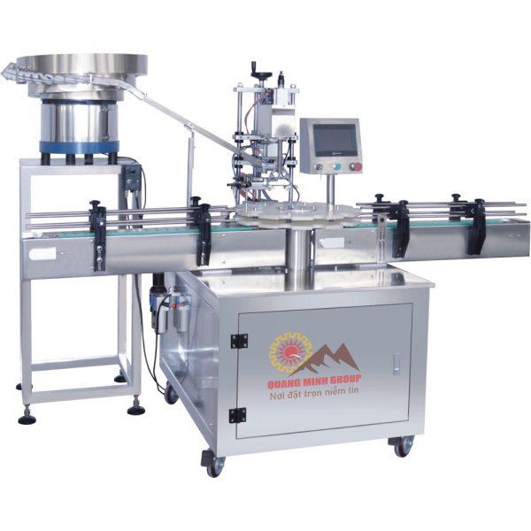Máy-cấp-nắp-siết-nắp-dạng-mâm-xoay-tự-động-QM-SCM-1R