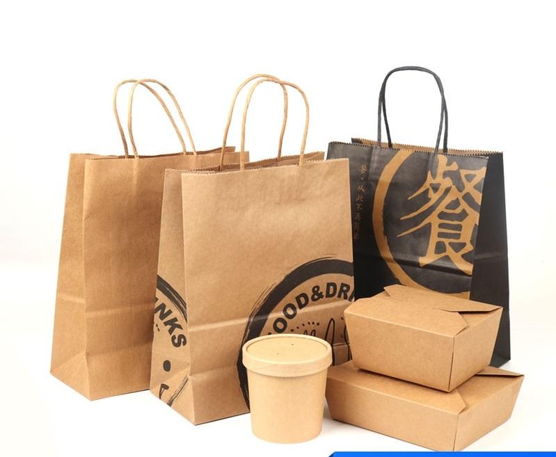 Túi giấy đựng thực phẩm đơn giản