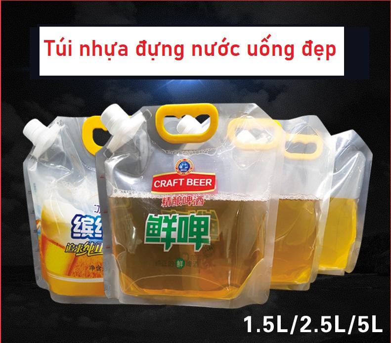 Túi nhựa đựng nước ngọt và nước có ga